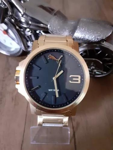 Relógio masculino puma grande e pesado a prova d'água.