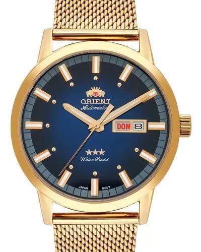 Relógio orient masculino automatico dourado - 469gp085 d1kx