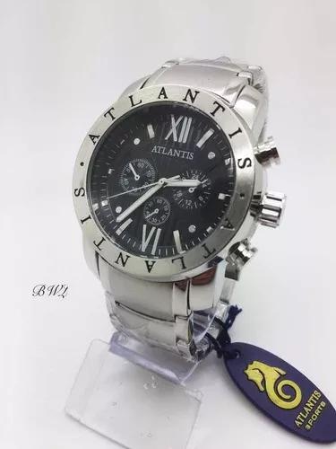 Relógio original atlantis masculino preto bv