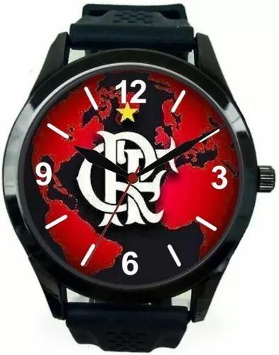 Relógio pulso esportivo flamengo barato oferta