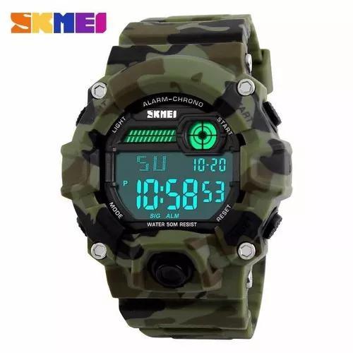 Relógio skmei digital militar camuflado pra treinar