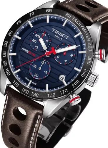 Relógio tissot prs 516 novo modelo t1004171604100 azul