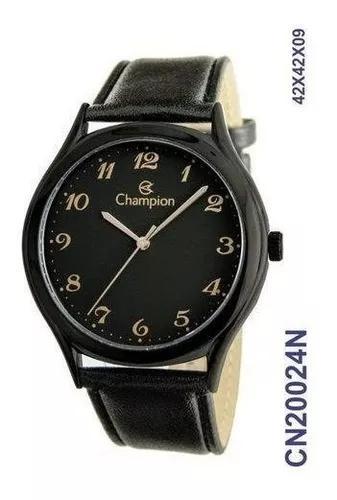 Relogio champion masculino pulseira couro cn20024n original