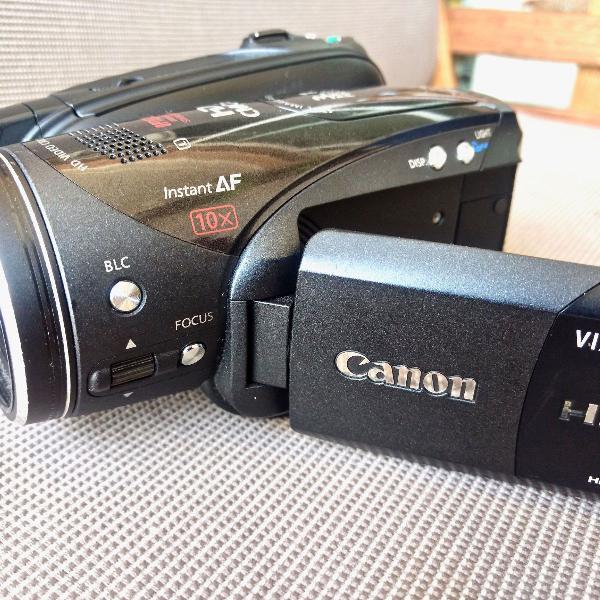 Câmera de vídeo de alta definição mini dv canon vixia