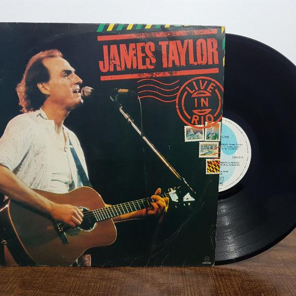 Lp vinil james taylor live in rio 1985