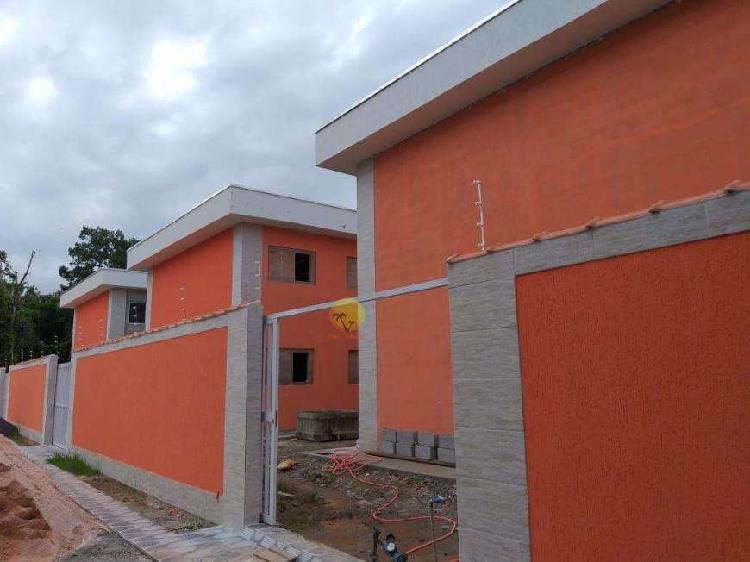 Casa de vila com 2 dorms, indaiá, bertioga - r$ 198 mil,