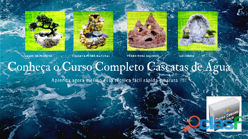 Curso online completo cascatas de água da lucila de souza