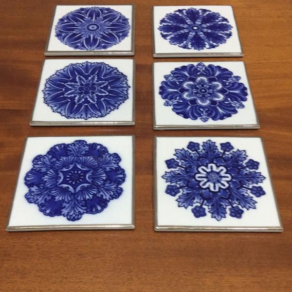 6 porta copos em porcelana chinesa - bombay