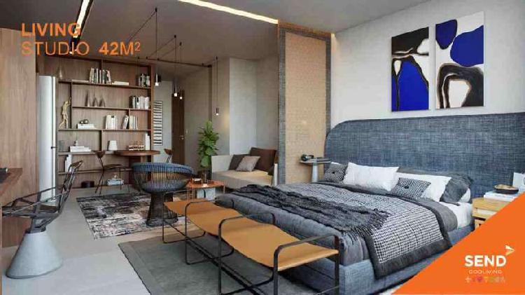 Apartamento studio com 29,92 m² - centro