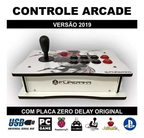 Controle arcade óptico zero delay pc ps3 ps4 com nota