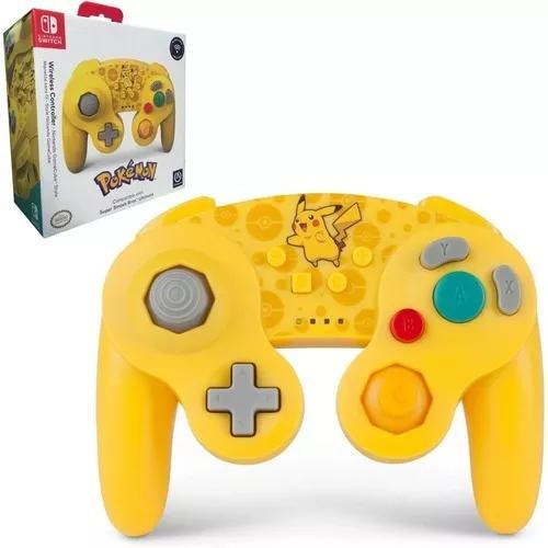 Controle gamecube nintendo switch wireless pikachu powera