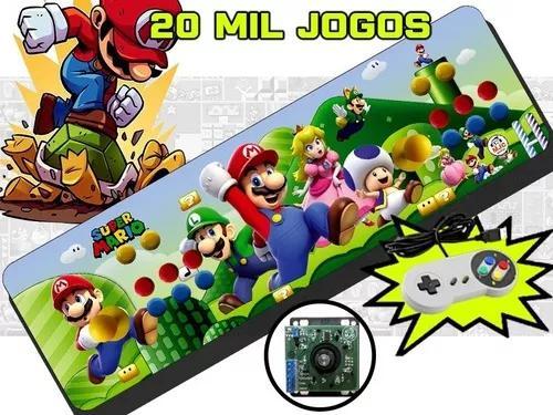 Fliperama portátil 20000 jogos com. óptico 64gb + brinde