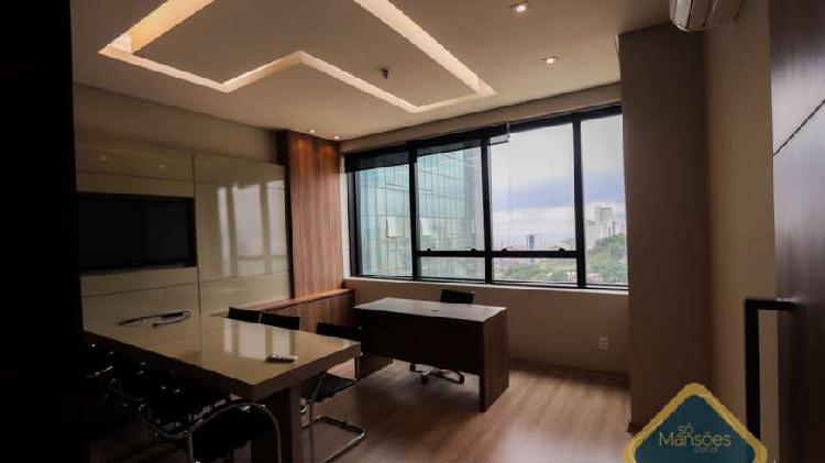 Sala mobiliada de 49m² para locação no ed. icon - vila da