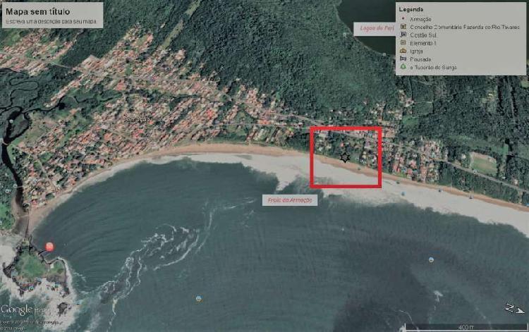 Terreno pé na areia praia da armação 4.500m2