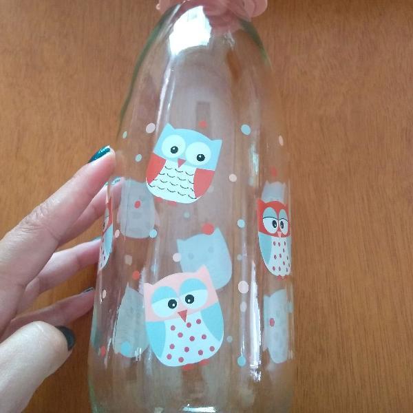 Garrafa vidro leite