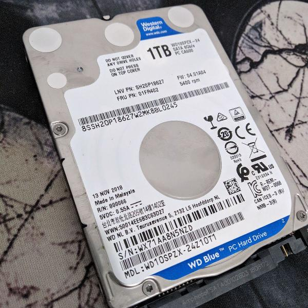 Hd western digital 1tb slim 2.5