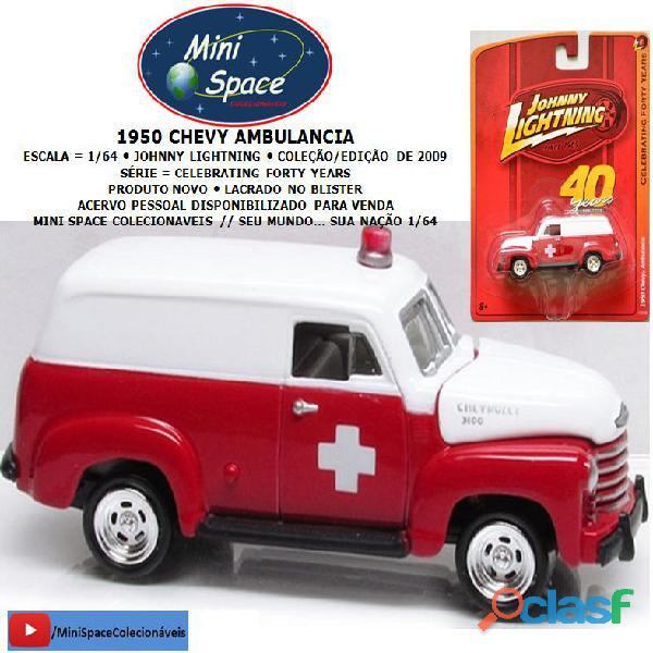 Johnny lightning 1950 chevy ambulância raro 1/64