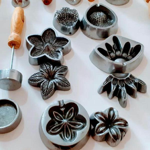 Kit frisadores de eva/flores de açúcar