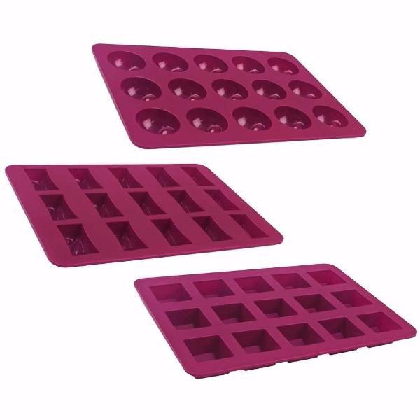 Kit forma para chocolate silicone brastemp mini