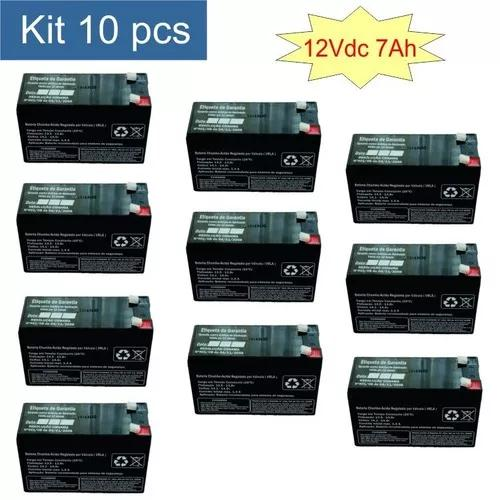 10 x bateria selada 12v 7a p/ nobreak alarmes cerca