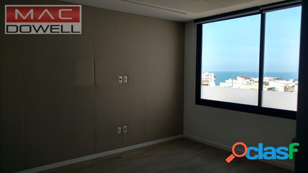 Locação - sala comercial de 150 m² - leblon/rj