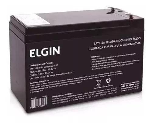 8 bateria selada 12v 7ah elgin nobreak alarme cerca eletrica