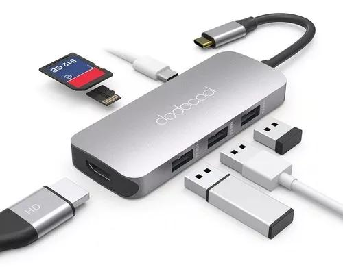 Adaptador hub dodocool macbook ultrabook 4k hdmi usb-c dex