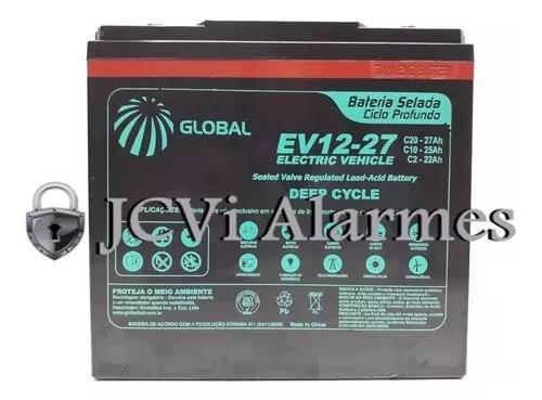 Bateria 12v 27ah (6-dzm-20) ciclo profundo global ev12-27