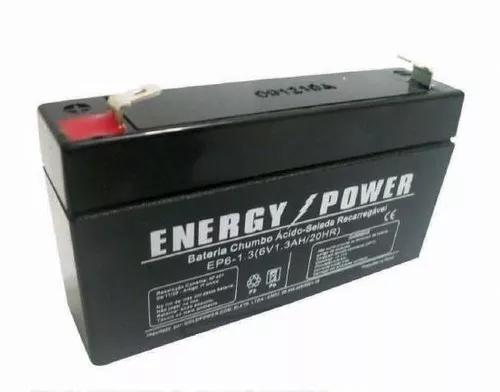 Bateria gel selada 6v 1.3ah - agm vrla - ep