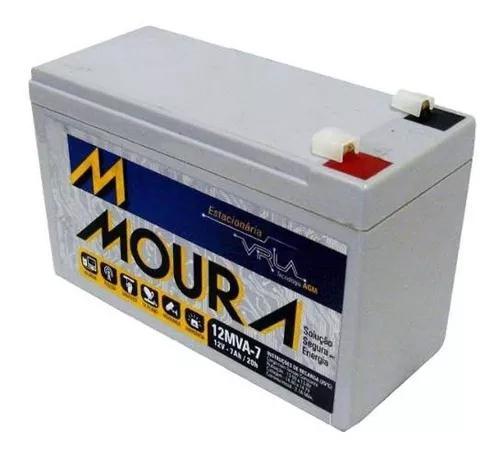 Bateria moura gel selada 12v 7ah - tecnologia agm - no-break