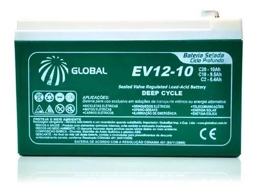 Bateria recarregável - selada gel 12v 10ah - ciclo profundo