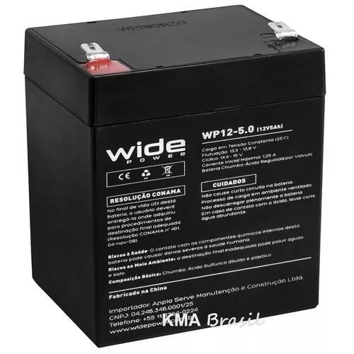 Bateria selada 12v 5,0ah wide wp12-5.0 - vida útil: 5 anos