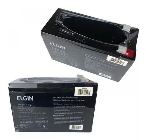 Bateria selada 12v 7ah elgin nobreak alarme e cerca eletrica