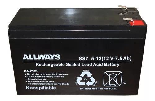 Bateria selada 12v 7ah vrla nobreak alarme cerca cftv