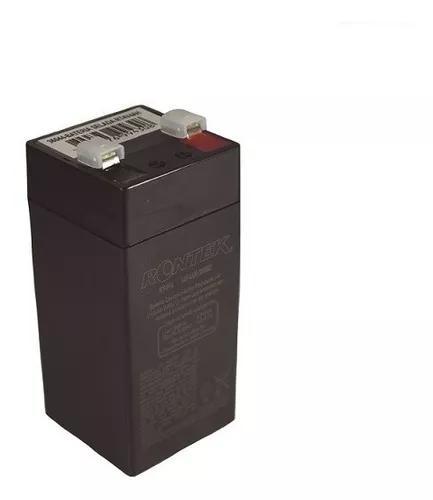 Bateria selada 4v 4ah chumbo ácido (100x46x46mm) - rontek