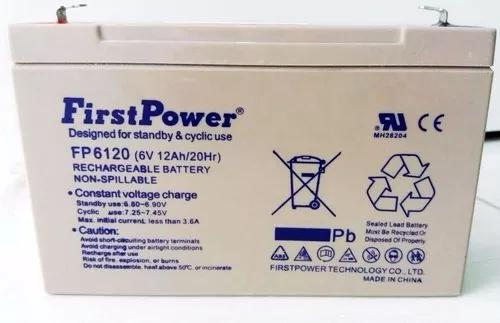 Bateria selada 6v 12a up6120 brinquedos 6 12 12ah firstpower