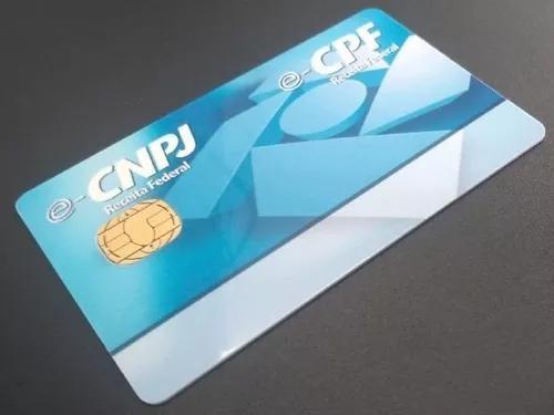 Cartão smart card certificado digital