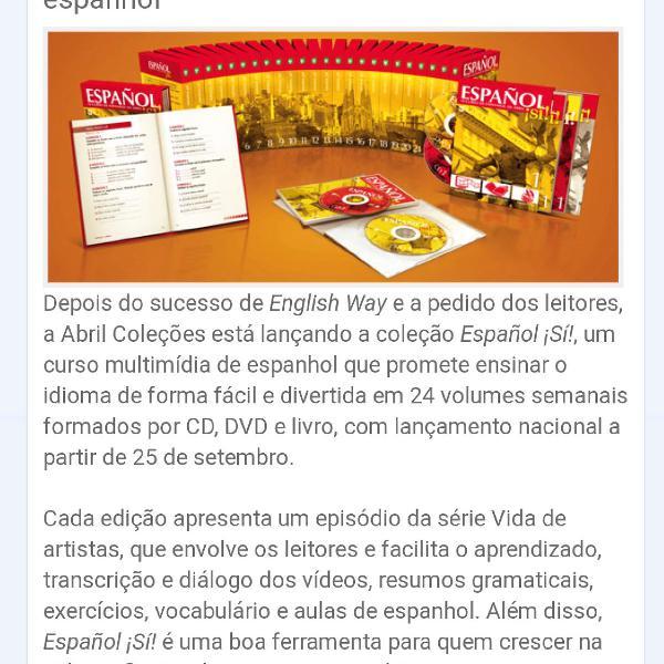 Curso de espanhol ed. abril