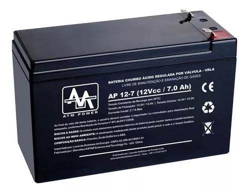 Kit 3 baterias 12v x 7a p/ alarme cerca segurança cftv ups