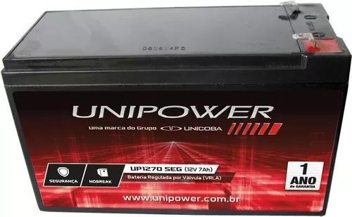 Kit 4 baterias 12v 7ah alarme cerca segurança cftv ups