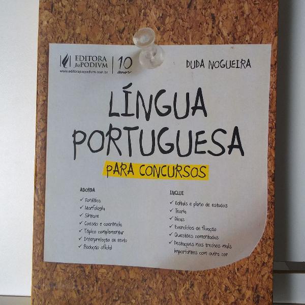 Livro língua portuguesa para concursos