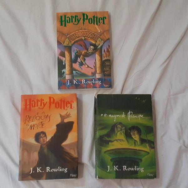 Livros harry potter (relíquias da morte/enigma do