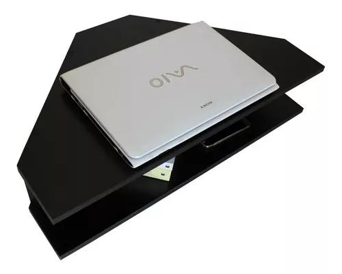 Mesa de canto tv notebook mdf preto 15mm home office
