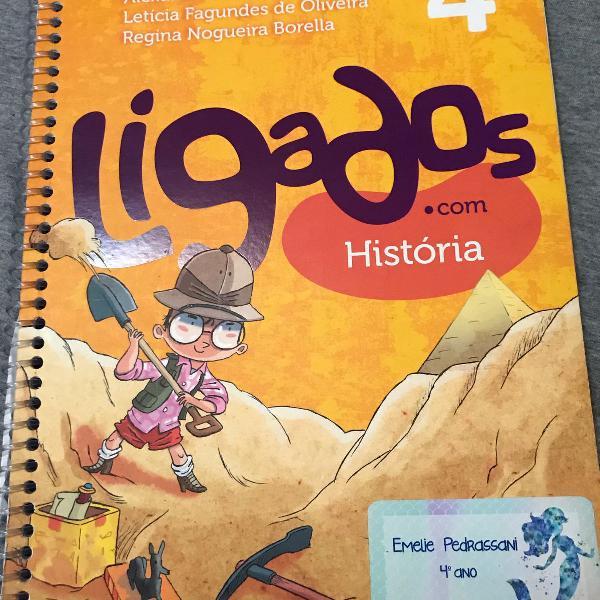Livro e caderno de atividades ligados com história ed