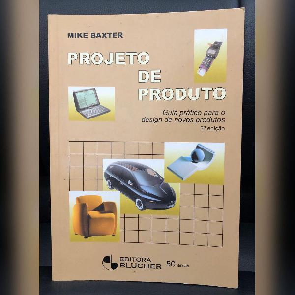 Livro projeto de produto - novo - sem uso
