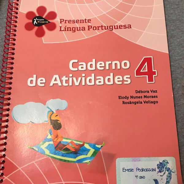 Livro projeto presente caderno de atividades 4 ano editora