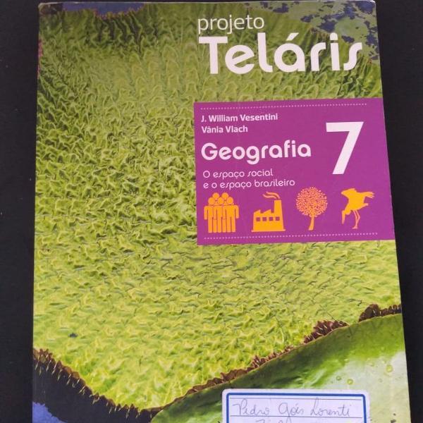 """Livro """"projeto teláris geografia 7"""""""