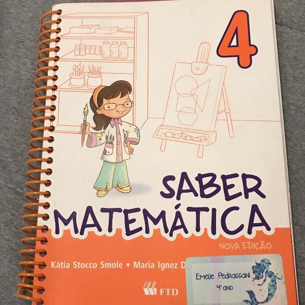Livro saber matemática 4 ano editora ftd