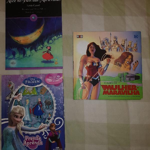 Livros da frozzen, prenda e aprenda, livro o mundo da mulher