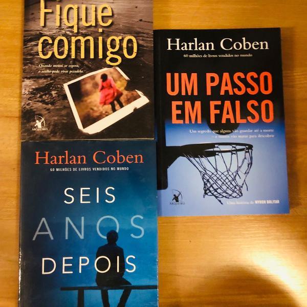 Livros harlan coben! tres pelo preço de um!